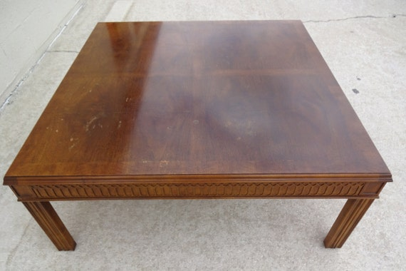 Perfect VVH Vintage Henredon Coffee Table Fretwork Coffee Table Square Cocktail  Table Walnut Table Mid Century Modern Hollywood Regency Palm Beach