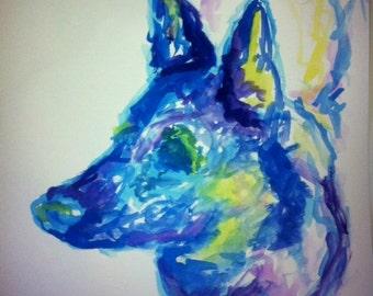 Watercolor Custom Pet Portrait