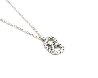Silver Pretzel Necklace, Pretzel Charm Necklace, Pretzel Jewelry, Pretzel Necklace, Food Necklace, Food Jewelry, Baking Necklace, Junk Food