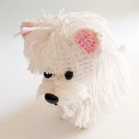 Handmade crochet amigurumi westie dog MADE TO ORDER