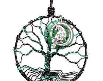 Maleficent-Inspired Tree of Life Pendant Wire Wrapped Jewelry