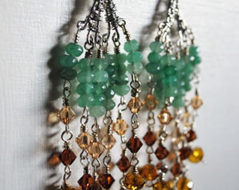 Long Swarovski Crystal earrings