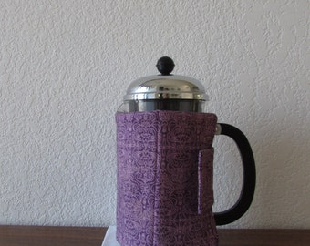 French Press Cozy - Light Purple