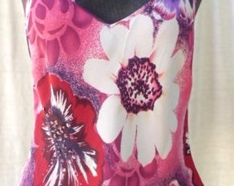 Vintage MARKS & SPENCER Spaghetti Strap Flowered seqinned Top from  - Size Medium