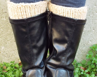 Tan Boot Cuffs, Ladies Small Boot Cuffs, Boot Toppers, Knit Boot Socks, Faux Socks, Faux Legwarmers, Brown Bootcuffs, Gifts for Women