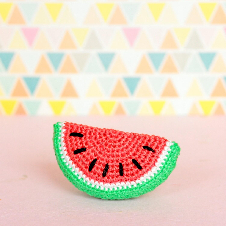 Amigurumi Watermelon : Crochet Watermelon homedecor Amigurumi watermelon decor by ...