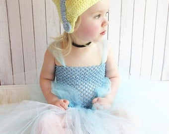 Cinderella Crochet Hat, Disney Princess Hat, Princess Crochet Hat, Disney Crochet Hat