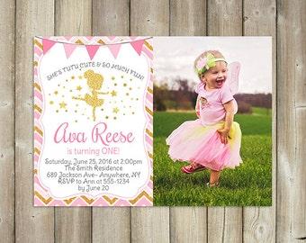 Tutu Cute Birthday Invitation - Ballerina Birthday Invite - Dancer Bday Invitation - Girls First Birthday - DIGITAL FILE