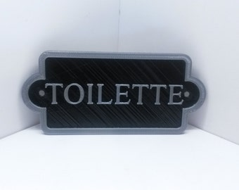 French Toilette Shabby Chic Toilet Door Sign - Vintage Antique Style Loo Bathroom Water Closet Fake Cast Iron Style …