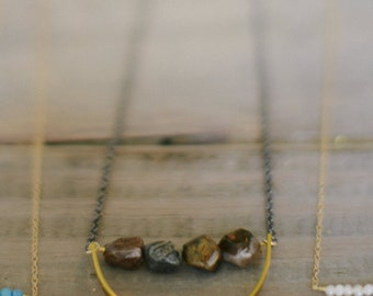 Long Gunmetal Chain Necklace