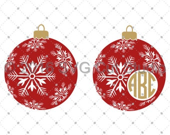 Christmas SVG Cut files, Christmas Ornaments SVG, Winter SVG Cut Files for Cricut and Silhouette, svg files