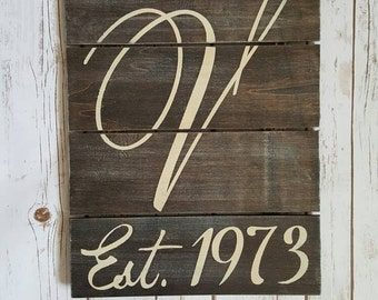 Rustic Sign, Rustic Home Sign, Established Sign, Wedding Gift, House Warming Gift, Est. Sign, Wood Sign, Engagement Gift, Rustic Wood Sign