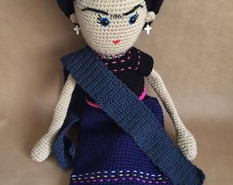 Frida Doll, Frida Kahlo, Amigurumi Doll, handmade doll,