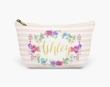 Personalized bridesmaid gifts custom zipper pouches wedding bridal shower party wedding favors thank you cosmetic bag coin purse makeup case