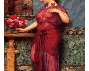 "John Godward ""An Offering to Venus"" 1912 Reproduction Digital Print Roman Goddess Roman Mythology"