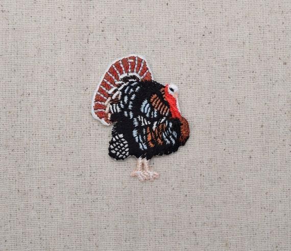Wild Turkey Natural Fowl Bird Iron On Applique