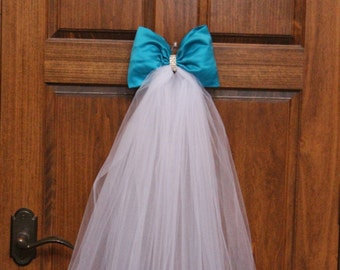 Blue Pew Bows/Turquoise Wedding Pew Bows/Church Bows/Reception Decorations/Aisle Bows/Pew Decorations/Turquoise Wedding Decorations