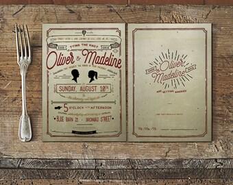 Rustic Wedding Invitation / Wedding Announcement