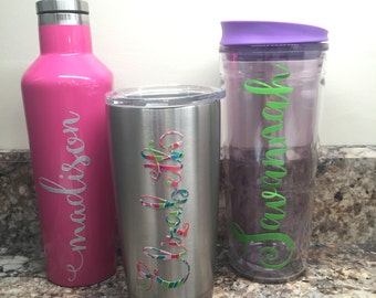 Calligraphy Name Decal // Yeti Decal / Corkcicle Decal / Rtic Decal / Orca Decal / Sic Decal/ Car Decal / Laptop Decal