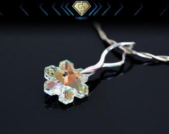 Snowflake Pendant. Swarovski Snowflake Crystal Pendant. Christmas Gift For Her. Swarovski Pendant.