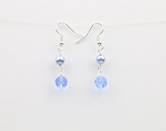 Light Blue Sapphire Swarovski Crystal Earrings – Sapphire Crystal – Blue Sapphire Earrings – Dangle Earrings