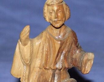 Vintage Hand Carved Wood Man Figurine