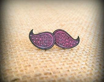 Paisley Earrings - Paisley Studs - Purple Paisleys - Paisley Jewelry - Line Art - Purple Earrings - Shrink Plastic Earrings - Shrink Art