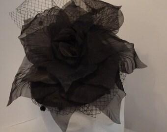 Fascinator Cocktail Evening Wedding Hat Millinery Woman's Black