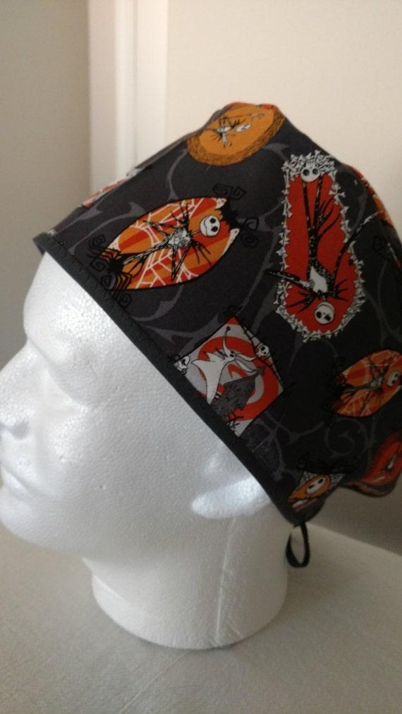 Nightmare before christmas scrub hat by hunnycrochetsandsews