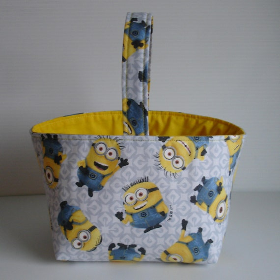 Minions Easter Basket - Minions Fabric Basket - Minions Gift Basket Ask a question. Are you a Minion fan? Then this is the Easter Basket for you.