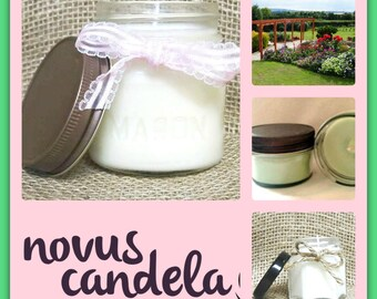 Mason Jar Candle - Soy Candle - Soy Scented Candle - Patio Candle - Patio Garden Candle - Housewarming Gift - Handmade Candle - 4 & 8 oz