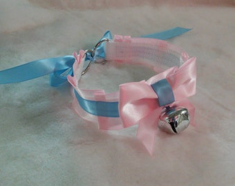 Cotton Candy Kitty Bell and Play Collar