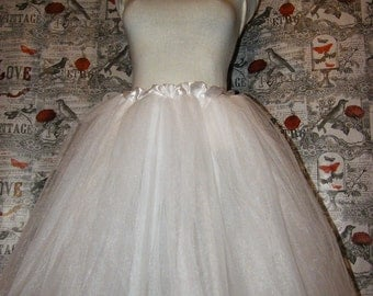Bridal white tulle tutu skirt