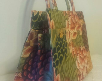 Vintage Margaret Smith Handbag Purse Gardiner Maine Floral Purse 1960s 1970s