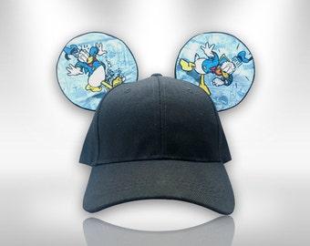 Donald Duck  Minnie Mouse Ears Adult Baseball Cap