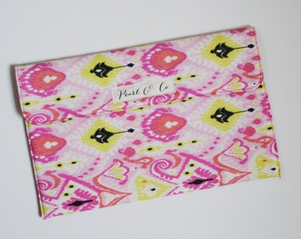 Diaper Clutch: Pink Moroccan Watercolor - Pink Diaper Clutch - Diaper Pouch Girl - Diaper Bag Organizer - Diaper and Wipes Case - Pearl & Co