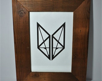 Recycled Timber Picture Frame with Artwork - Suits A4