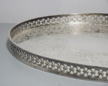 Vintage Silver Plated Mappin and Webb Tray/Silver Plated Tray/Silver Plated Platter/Gift for the Home/Silver Plate/Silver Plate on Copper