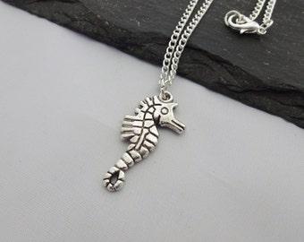 Seahorse Necklace, Charm Necklace, Seahorse Jewellery, Seahorse Jewelry, Gift For Her, Seahorse Gifts, Sea Life Necklace, Seahorse Gift