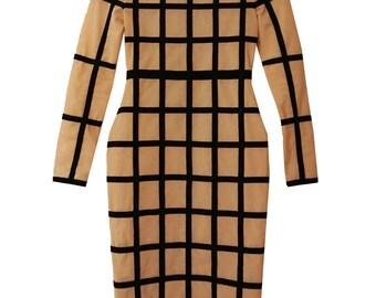Sukina Bandage Sheer Bodycon Dress Party Eveningwear Womens Clothing