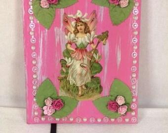 PInk Fairy Notebook Diary Fairies Magical Book Fairy Diary Handmade Fairy Notebook Fairy Sketch Book