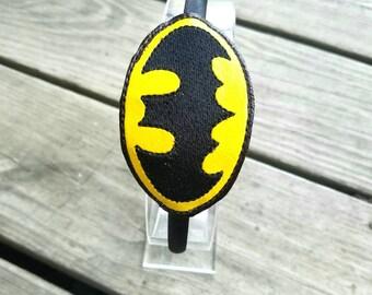 Batman headband slider with headband, batman slider, superhero
