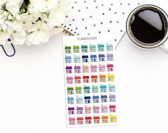 48 House Stickers - MI 0034