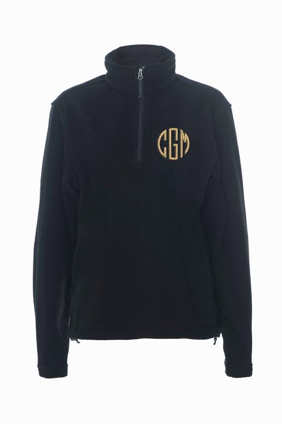 Monogrammed Fleece Quarter Zip Personalized Fleece Pullover