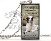 for Christine -- Pet Sympathy Gift, Pet Memorial Gifts, Dog Keychain, Custom Pet Memorial Jewelry w Custom Text, Dog Gifts, Pendant Necklace