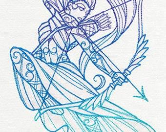 Artemis Cushion Cover Embroidered Pillow god goddess Greek Mythology