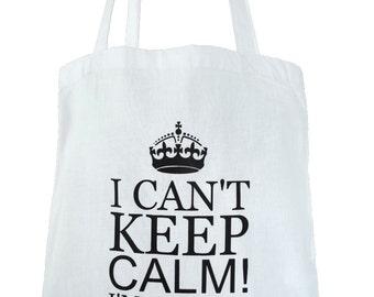 Jute bag i can't keep calm! I'm getting married!