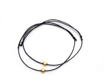 Friendship Bracelet gold plated star