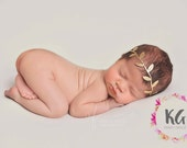 BOHO Baby Headband, Baby Girl Headband, Newborn Headband, Flower Girl Headband, Gold Headband, Newborn Baby Girl, Infant Toddler Headband