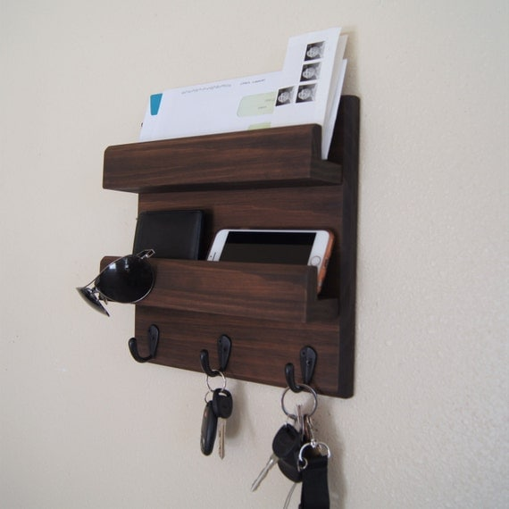 Key Rack Mail Holder Key And Coat Hooks By Midnightwoodworks